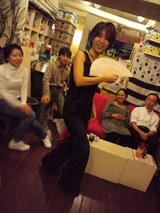 日本舞踊のポーズ