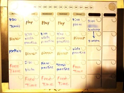 mikey schedule