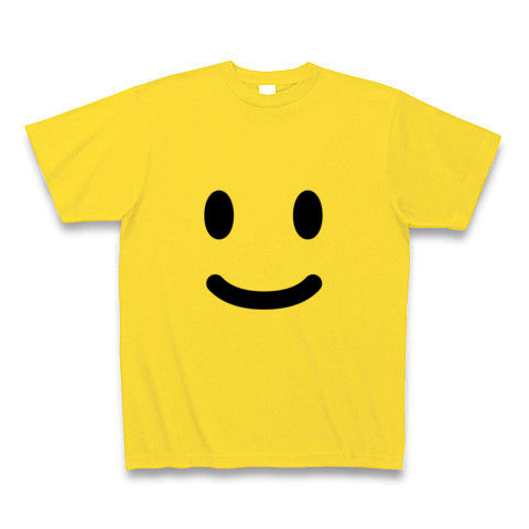 【ニコニコ笑顔の、かわいいグッズ!】かおシリーズ スマイル Tシャツ (マスタード)【ニコニコグッズ】