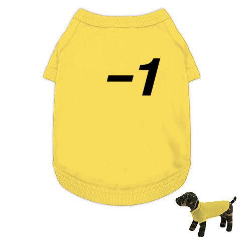 【2011年夏!24時間、テレビ見る?】パロディシリーズ −1(マイナスいち) ドッグウェア(イエロー)【24時間、テレビを見る時のTシャツ】
