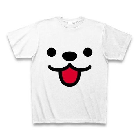 【クマ?犬?しろくま?思わずスマイル、かわいいくまちゃんグッズ!】かおシリーズ くまっぽいかお Tシャツ(ホワイト)【10度、20度、30度、スマイル!スマイルTシャツ】