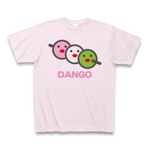 【桜の季節・春の訪れ、お花見グッズ!】かわキャラシリーズ 三色だんご(2012再レイアウトver) Tシャツ(ピーチ)【お花見グッズ特集】