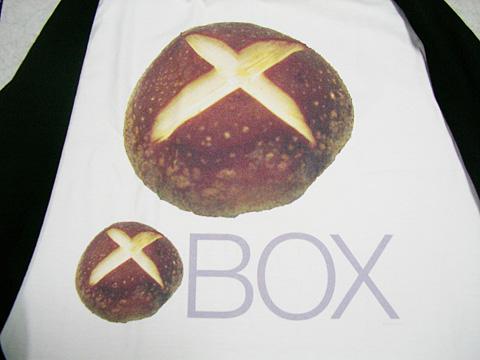 XBOXロゴ風『しいたけBOX』Tシャツ到着04