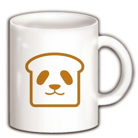 【パンダTシャツ!パンダグッズ!なんなんだ?食パンダ!】かわキャラシリーズ 食パンダ マグカップ(ホワイト)【かわいい雑貨!かわいいマグカップ】