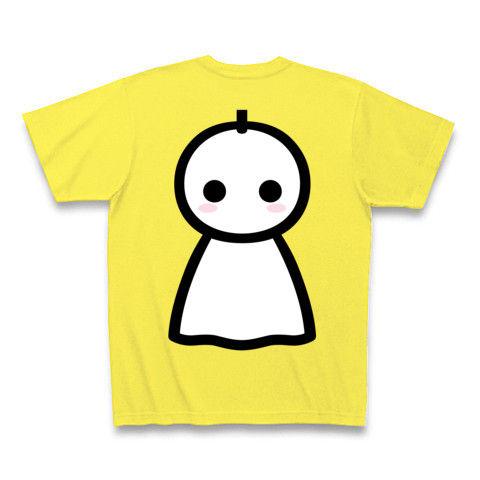 【かわいいてるてる坊主で、あした天気になあれ!】かわキャラシリーズ てるてる坊主(背面メインver) Tシャツ Pure Color Print(イエロー)【てるてる坊主Tシャツ】