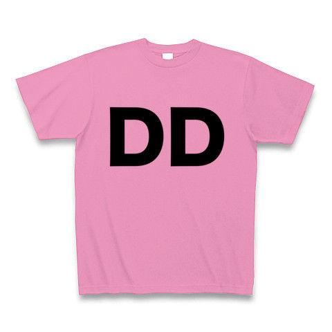 【誰か一人なんて決められない!ヲタT!】レッテルシリーズ DD Tシャツ(ピンク)【DDヲタT】
