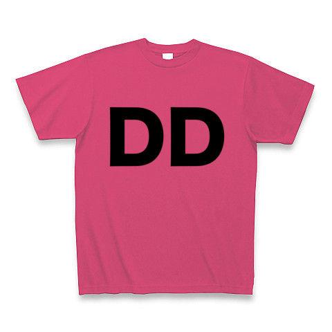 【誰か一人なんて決められない!ヲタT!】レッテルシリーズ DD Tシャツ(ホットピンク)【アイドルヲタ御用達Tシャツ】