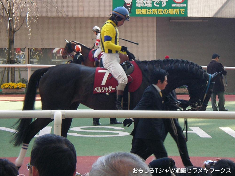 2011年3月26日阪神競馬場、東北関東大震災被災地支援競馬スプリングステークス(G2) 安藤勝己騎乗 ベルシャザール