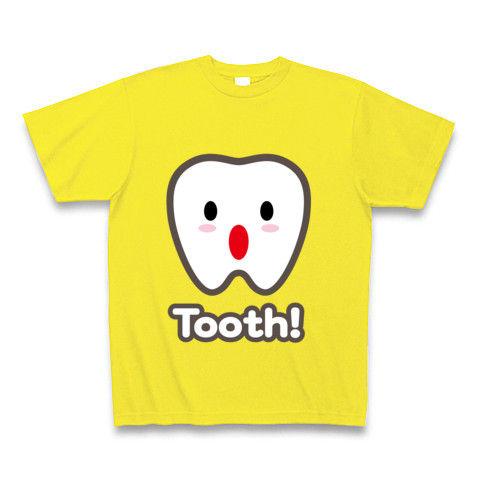 【トゥース!カスガじゃないよ、かわいい歯イラスト!】かわキャラシリーズ トゥース!(歯)英語ver. Tシャツ Pure Color Print(デイジー)【かわいいパロディTシャツ】