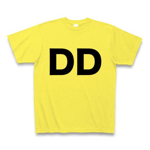 【誰か一人なんて決められない!ヲタT!】レッテルシリーズ DD Tシャツ(イエロー)【DD Tシャツ】
