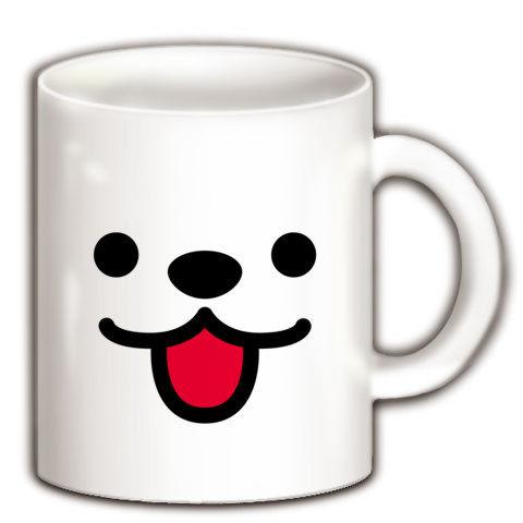 【クマ?犬?しろくま?思わずスマイル、かわいいくまちゃんグッズ!】かおシリーズ くまっぽいかお マグカップ(ホワイト)【かわいい雑貨!かわいいマグカップ】