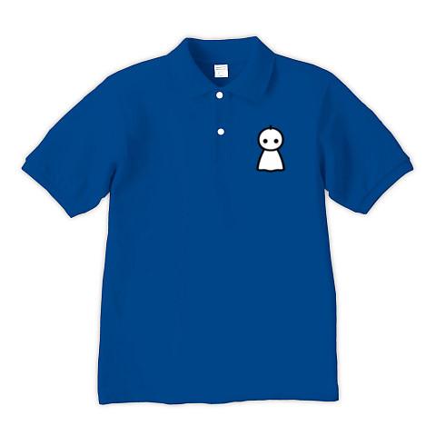 【かわいいてるてる坊主で、あした天気になあれ!】かわキャラシリーズ てるてる坊主 ポロシャツ Pure Color Print(ロイヤルブルー)【おもしろ雨の日ファッション】