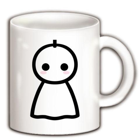 【かわいいてるてる坊主で、あした天気になあれ!】かわキャラシリーズ てるてる坊主 マグカップ(ホワイト)【かわいい雑貨!かわいいマグカップ】