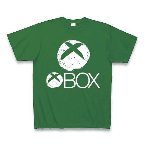 【今度はバツイチ?しいたけマニア必須!ゲーム系グッズ?】しいたけボタンシリーズ 白シイタケBOX(前面大しいたけ 一個増量バツイチver) Tシャツ Pure Color Print(グリーン)