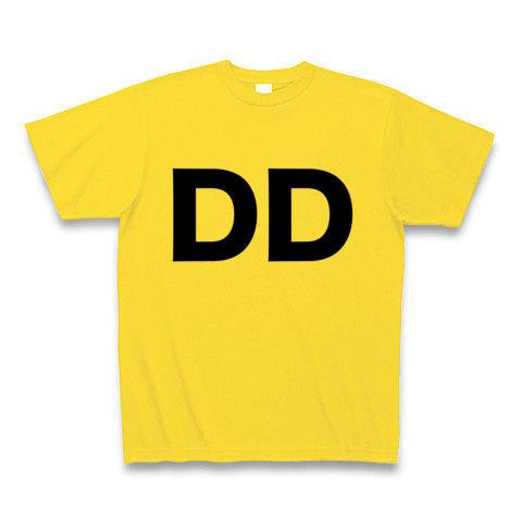 【誰か一人なんて決められない!そんな貴方に贈るヲタT!】レッテルシリーズ DD Tシャツ(マスタード)【おもしろTシャツ】