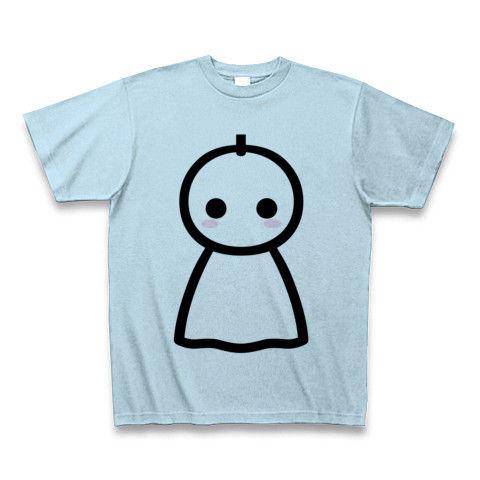 【かわいいてるてる坊主で、あした天気になあれ!】かわキャラシリーズ てるてる坊主 Tシャツ(ライトブルー)【かわいいTシャツ】