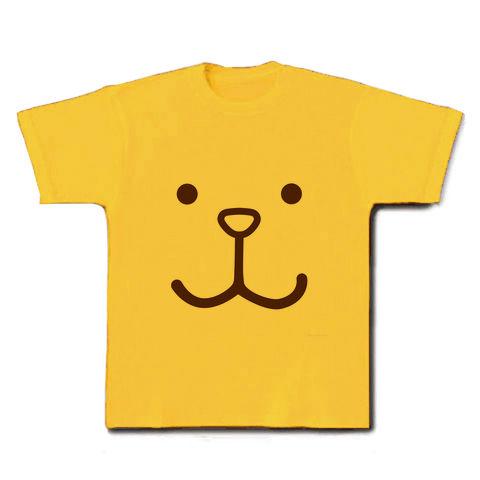 【のんびりムード、かわいい犬のかおグッズ!】かおシリーズ 犬のかお(茶) Tシャツ(デイジー)
