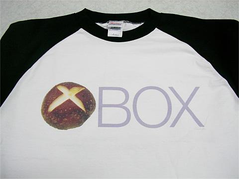 XBOXロゴ風『しいたけBOX』Tシャツ到着03