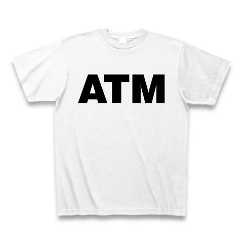 【お金持ち発見!これが私の理想の彼氏像!】レッテルシリーズ ATM Tシャツ(ホワイト)【おもしろTシャツ】