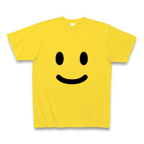 【ニコニコ笑顔の、かわいいグッズ!】かおシリーズ スマイルTシャツ (マスタード)【おもしろTシャツ】
