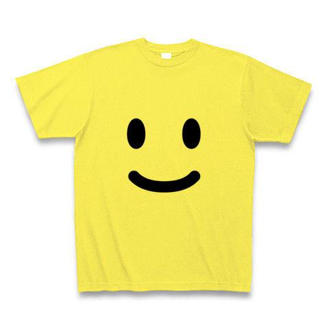 【ニコニコ笑顔の、かわいいグッズ!】かおシリーズ スマイル Tシャツ (イエロー)【10度、20度、30度、スマイル!スマイルTシャツ】