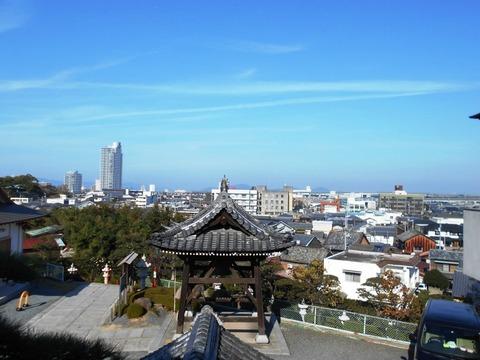 郷照寺境内からの風景