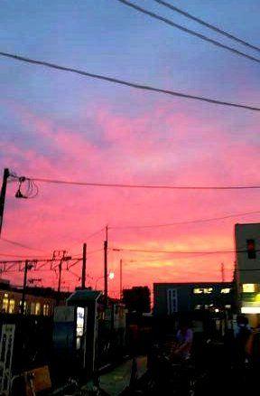 鶴瀬の夕やけ 001