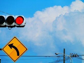 夏空と信号