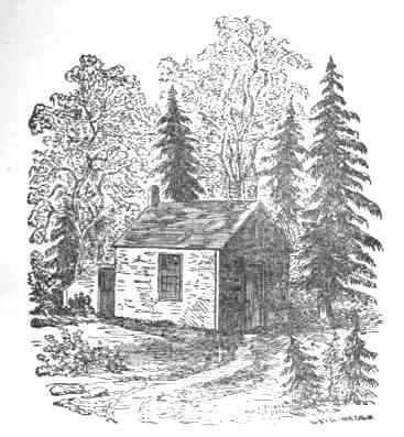 ソローの小屋の絵