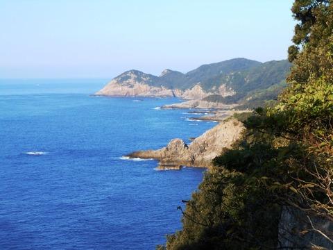 足摺岬(海と岸壁)