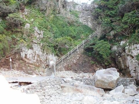 足摺岬(御崎の階段)