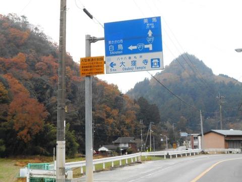 88への道(大窪寺との分岐)