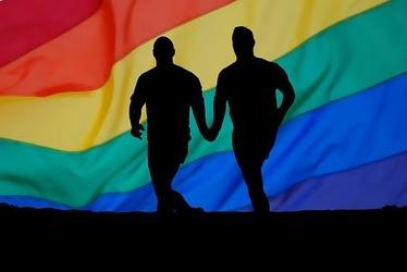 レインボウとゲイカップル