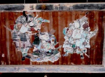 11番への道(八幡宮額絵)