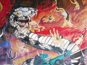 地獄絵図蛇47番八坂寺