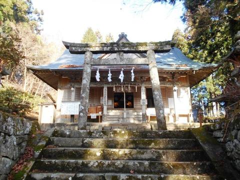 別格20への道(西照神社)