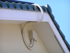 施工写真:屋根からの配線取込:埼玉県川口市Sさん宅