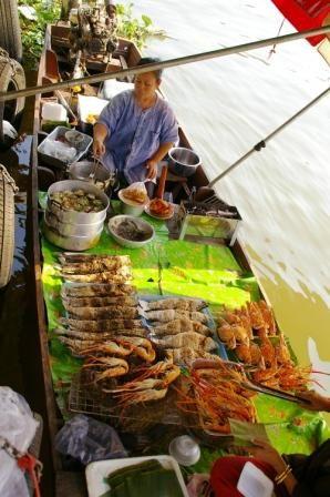 焼き魚、えびの舟