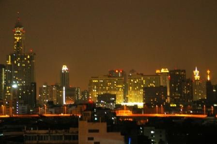 ホテルから夜景