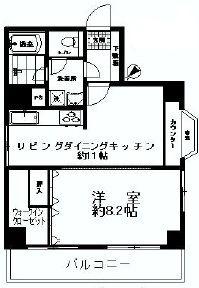 シティーコープ築地栄寿間取り図