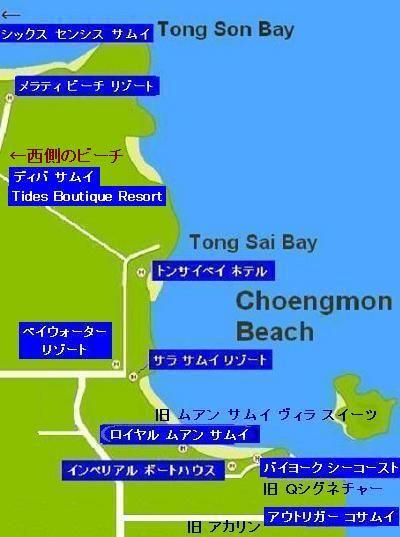 サムイ島チョンモンビーチ地図
