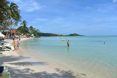 サムイ島のチャウエンビーチ北郊外11