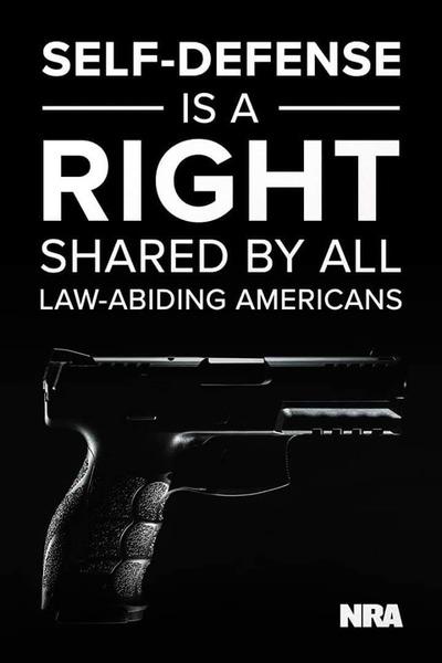 自衛は法を守る全ての米国人の権利だ!