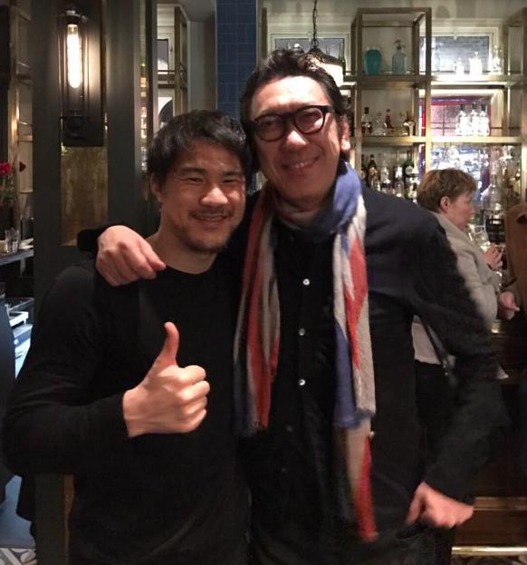 【画像アリ】岡崎慎司、念願の布袋さんと2ショット!「慎司君」と呼ばれ感激のご様子