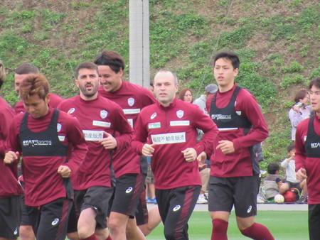 神戸ビジャ実戦で移籍後初ゴール、イニエスタは欠場