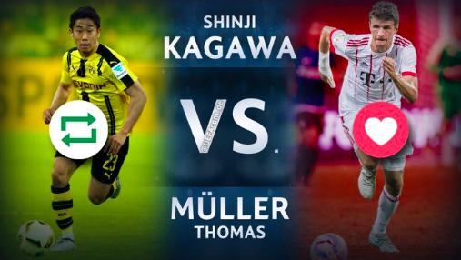 【画像】UEFA公式に「香川 VSミュラー」バイエルン戦ぶっつけ本番か!?ww