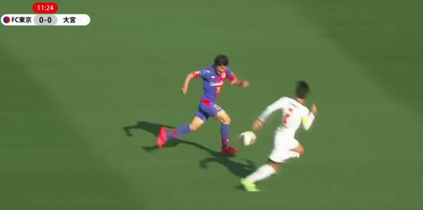 【動画アリ】FC東京・永井謙佑の爆発的なスピード!相手DFを完全にぶっちぎる