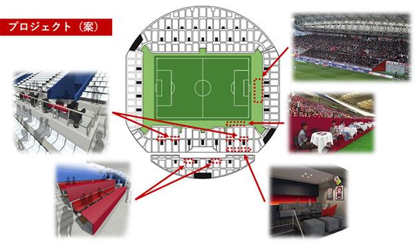 【J1神戸】スタジアム改修へ!ピッチサイドテーブル席がシュール?ww