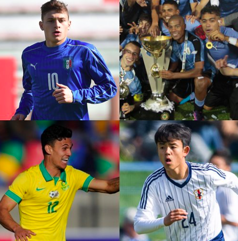 【U-20W杯】日本のグループD登録選手を総まとめ!イタリアやウルグアイにはワールドクラス候補生も!!
