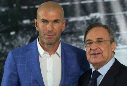 レアルのペレス会長、リーガ優勝に導いたジダンを称賛!「選手としても監督としても世界最高」